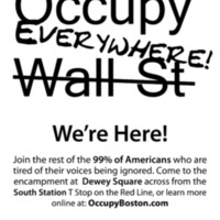 Occupy Boston Fliers